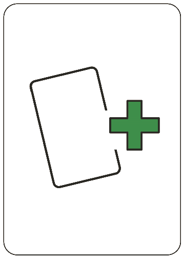 Lízni kartu - karta se znaménkem plus