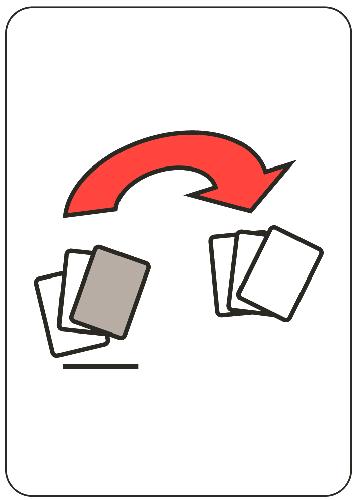 Dej soupeři kartu - přesouvající se karty