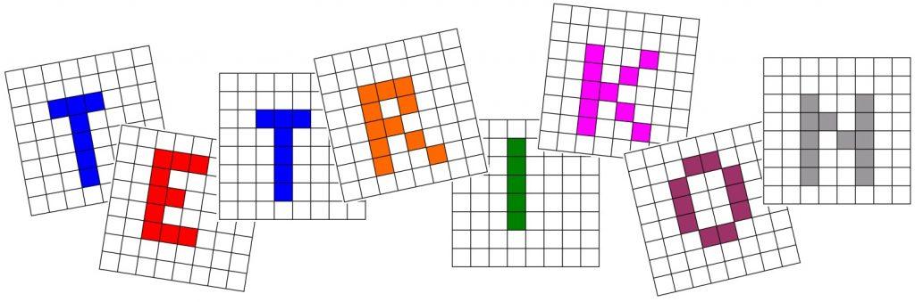 Nápis Tetrikon v grafické podobě.